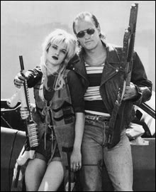 "Mallory and Mickey, the ""anti-heroes"" of Natural Born Killers. Played by Juliette Lewis and Woody Harrelson"